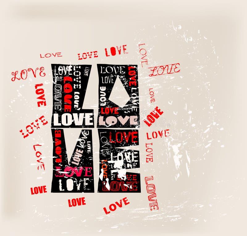 Diseño del amor, stock de ilustración