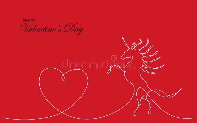 Diseño del amor del corazón de la tarjeta de día de San Valentín, vector ilustración del vector