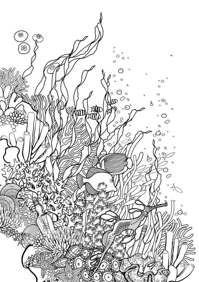 Diseño Del Arrecife De Coral Ilustración del Vector - Ilustración de ...