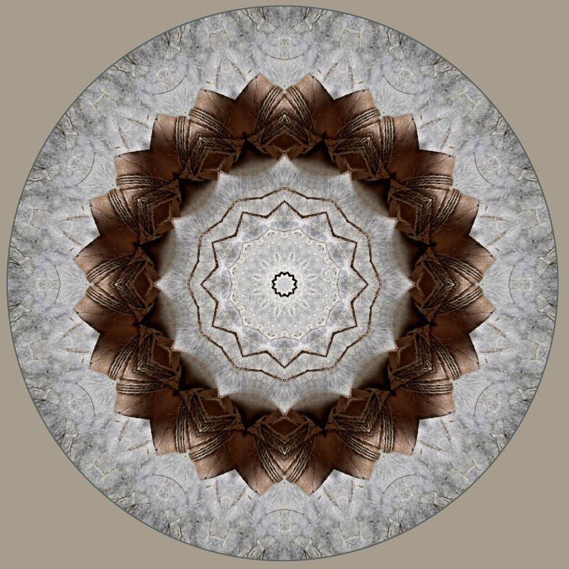 Diseño del arte de Digitaces hecho del papel y del cordón vistos a través de caleidoscopio libre illustration