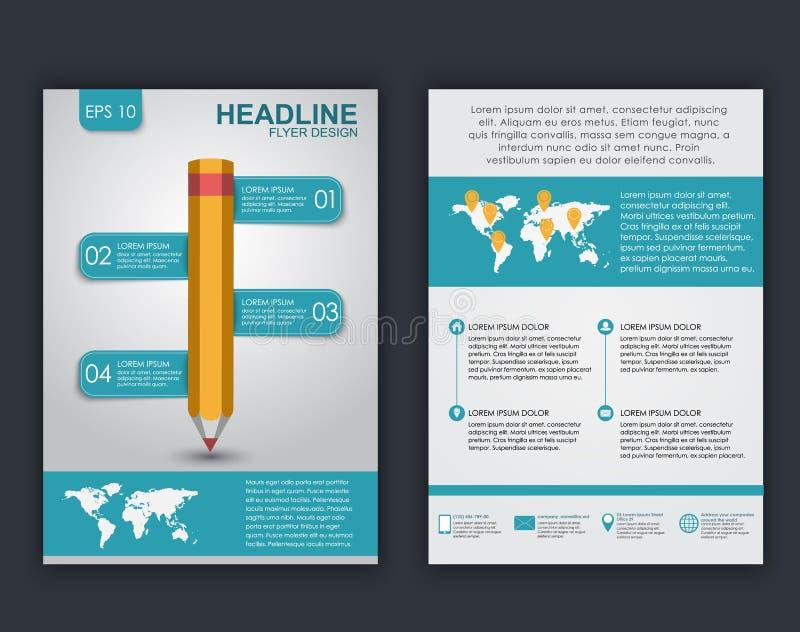 Diseño del aviador con los elementos del infographics libre illustration