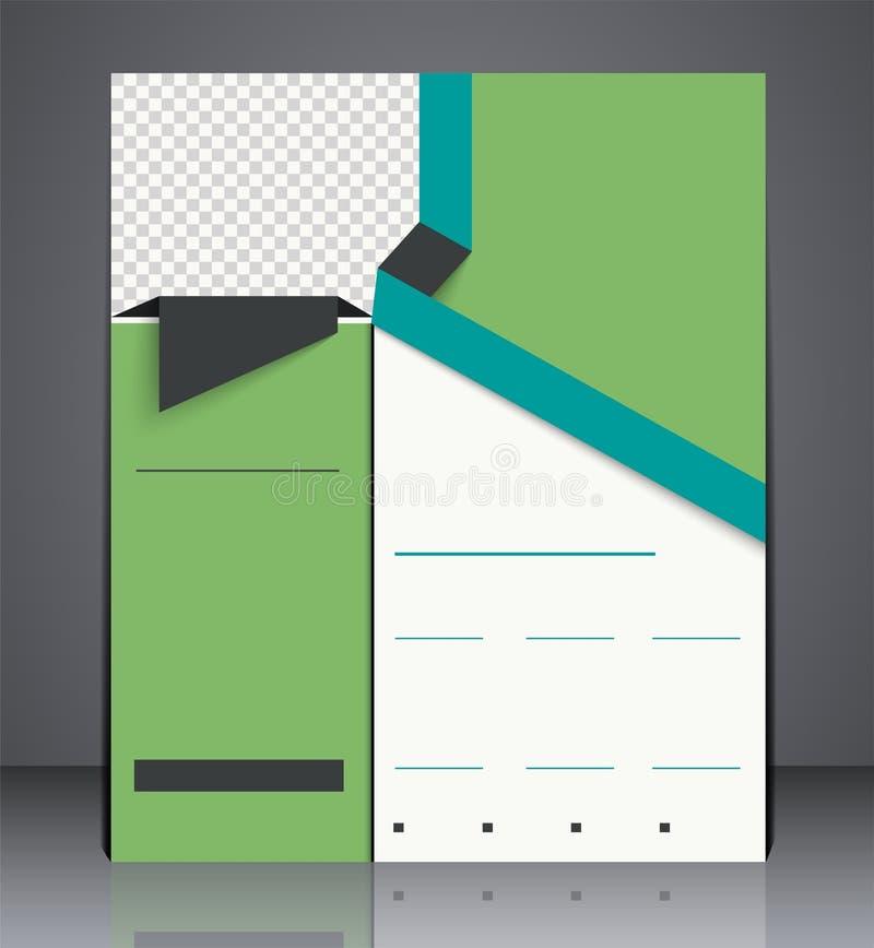 Diseño del aviador del folleto del negocio del vector stock de ilustración