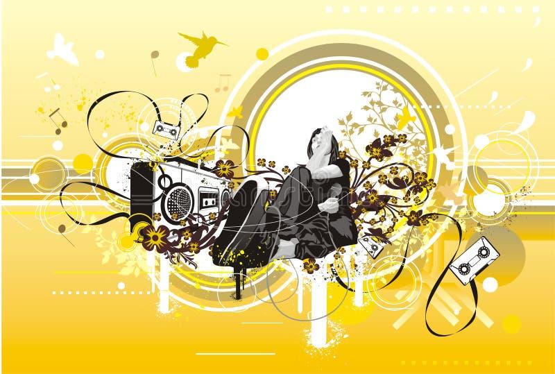 Diseño del aviador del partido stock de ilustración