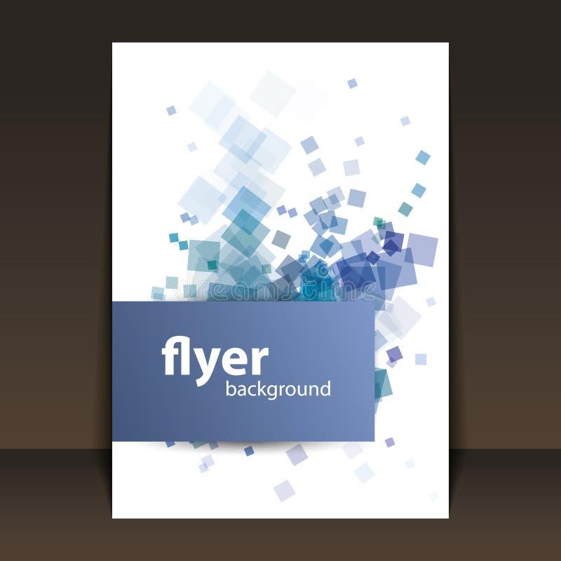 Diseño del aviador o de la cubierta con el modelo de los cuadrados ilustración del vector