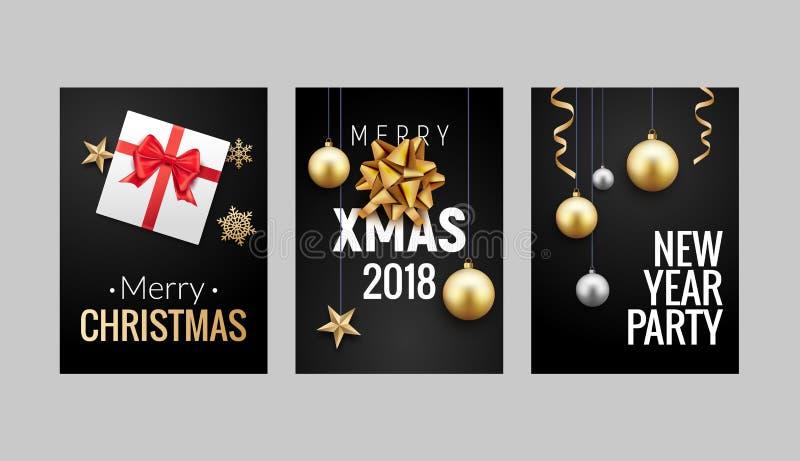 Diseño del aviador o del folleto del fondo de la tarjeta de felicitación de la Navidad del Año Nuevo Decoración de la bandera del ilustración del vector