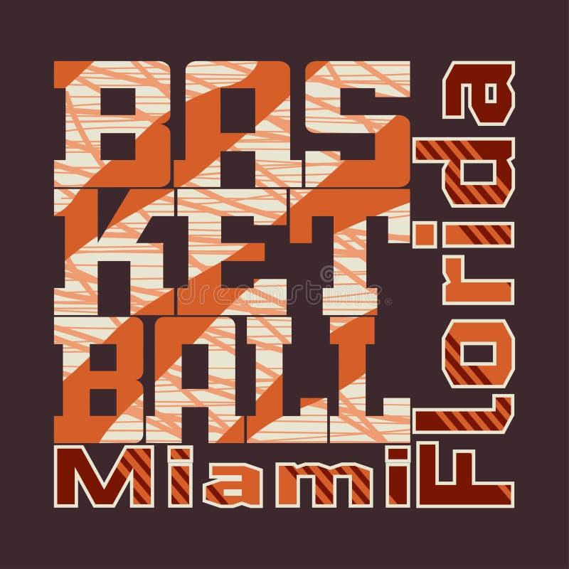Diseño del baloncesto de la camiseta ilustración del vector