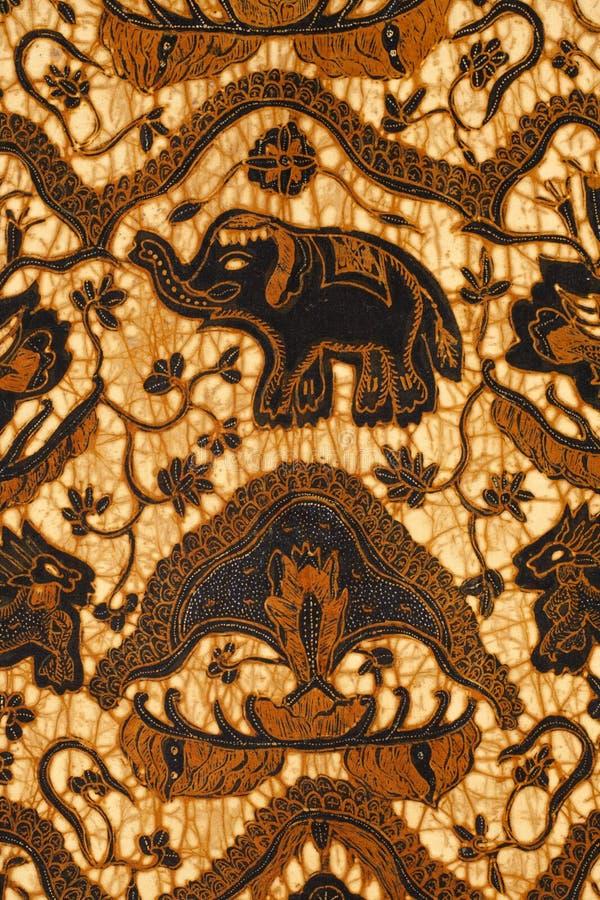 Diseño del batik fotos de archivo