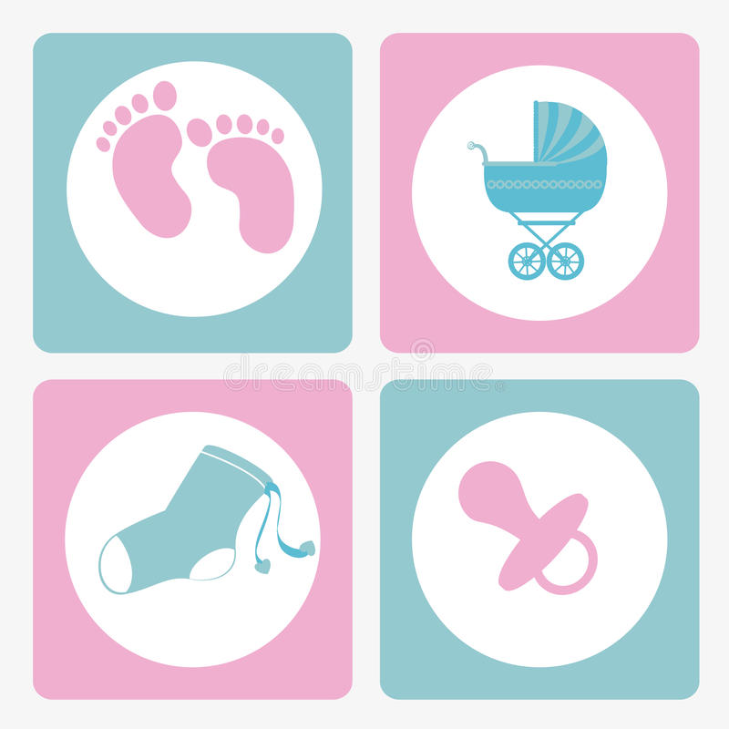 Diseño del bebé ilustración del vector