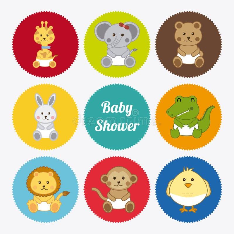 Diseño del bebé stock de ilustración