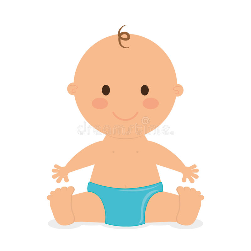Diseño del bebé, ejemplo del vector stock de ilustración