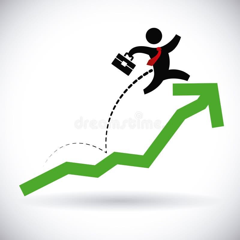 Diseño del beneficio stock de ilustración