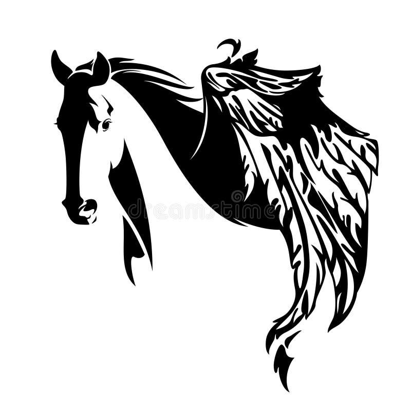Diseño del caballo de Pegaso ilustración del vector