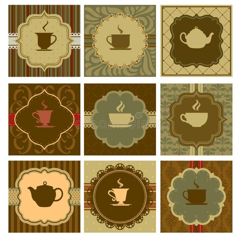 Diseño del café stock de ilustración