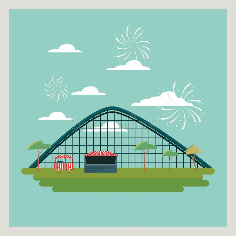 Diseño del carnaval del circo ilustración del vector