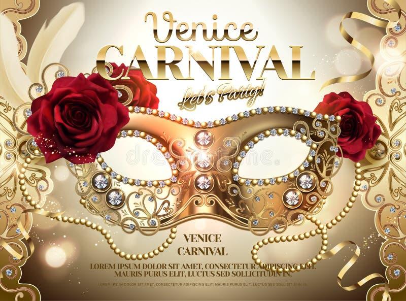 Diseño del carnaval de Venecia stock de ilustración