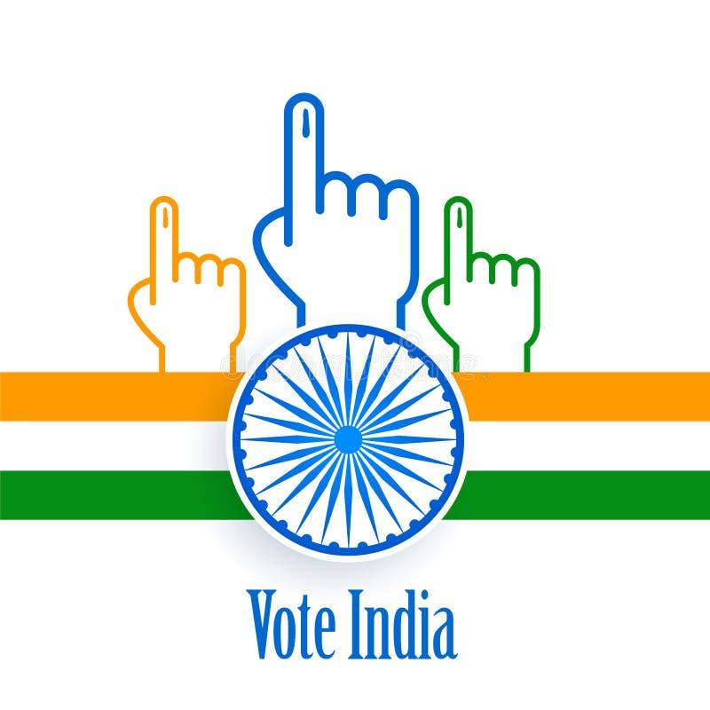 Diseño del cartel del concepto de la India de la elección y del voto stock de ilustración