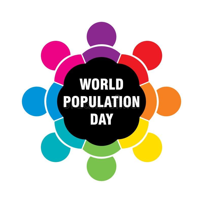 Diseño del cartel del día de la población mundial libre illustration