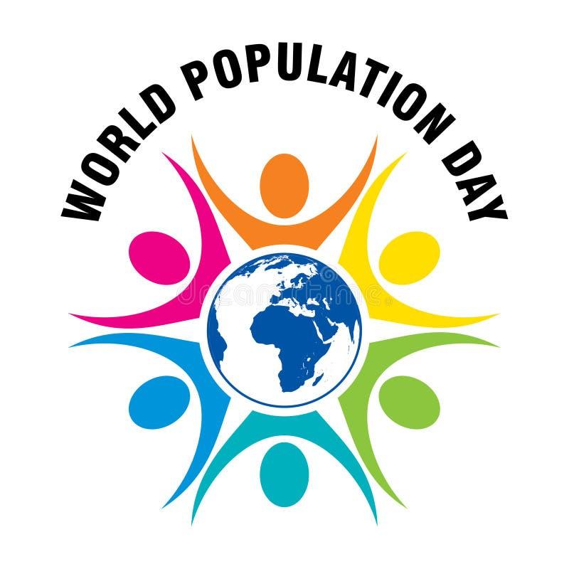 Diseño del cartel del día de la población mundial ilustración del vector