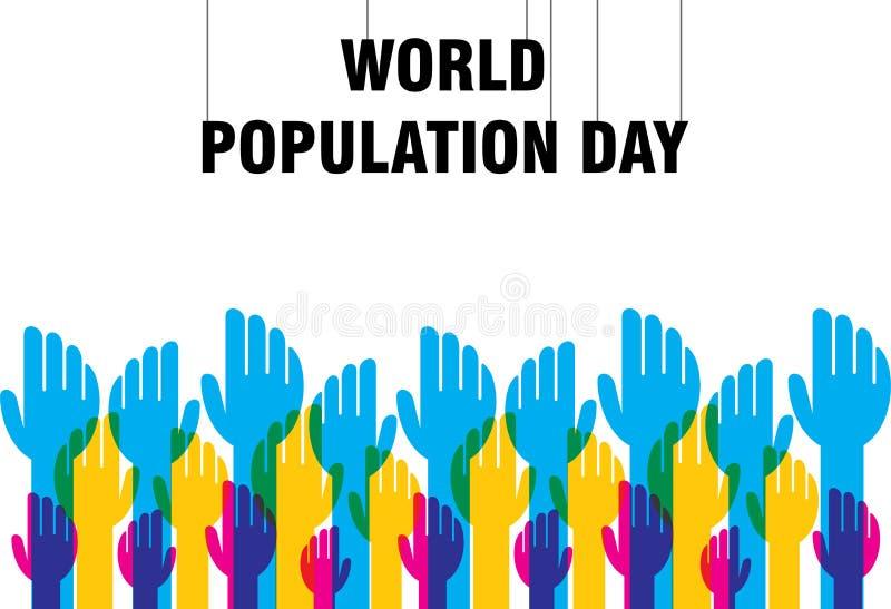 Diseño del cartel del día de la población mundial stock de ilustración