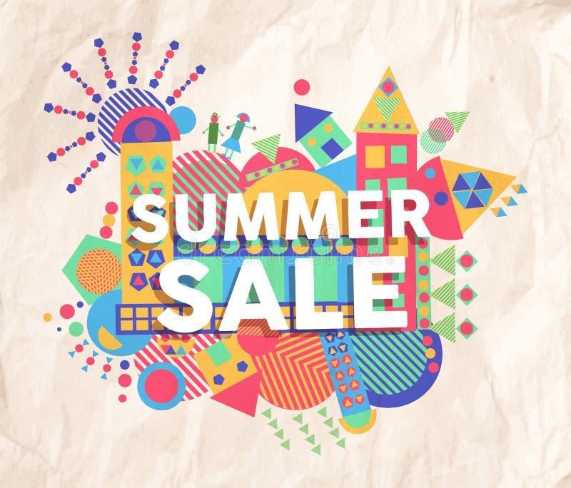 Diseño del cartel de la cita de la venta del verano ilustración del vector