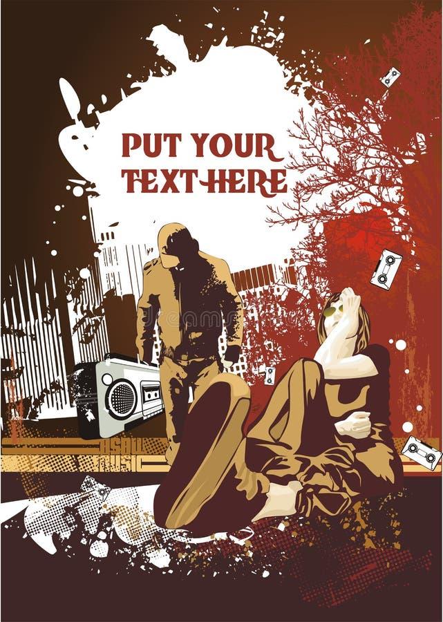 Diseño del cartel de la música libre illustration