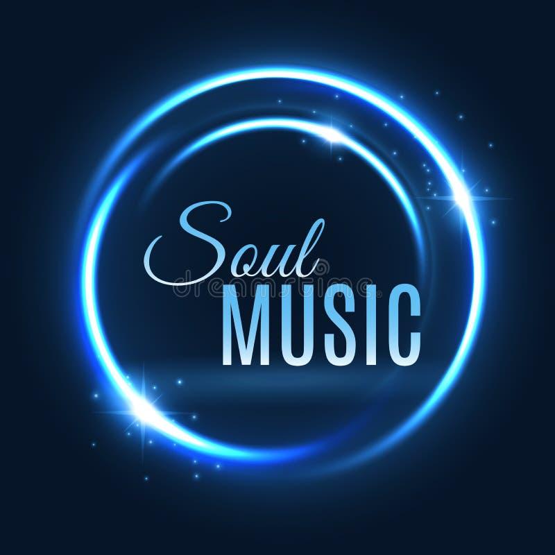 Diseño del cartel de la música del círculo de la luz de neón del vector libre illustration
