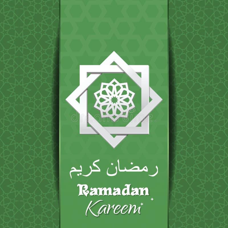 Diseño del cartel de Ramadan Kareem ilustración del vector