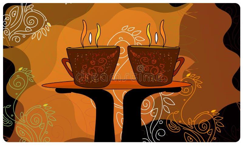Diseño del cartel del café libre illustration