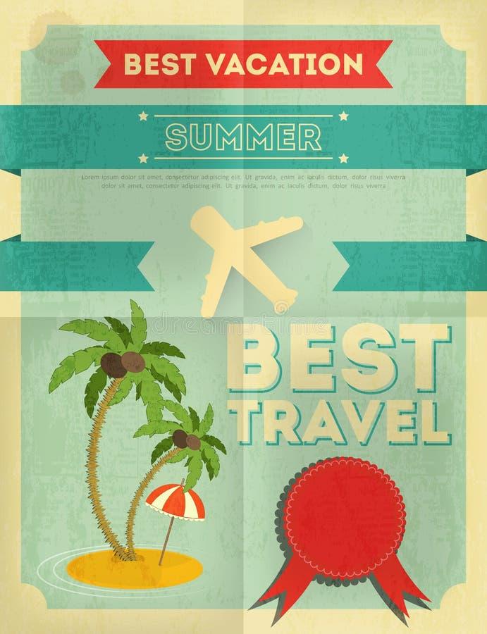 Diseño del cartel del viaje del verano ilustración del vector