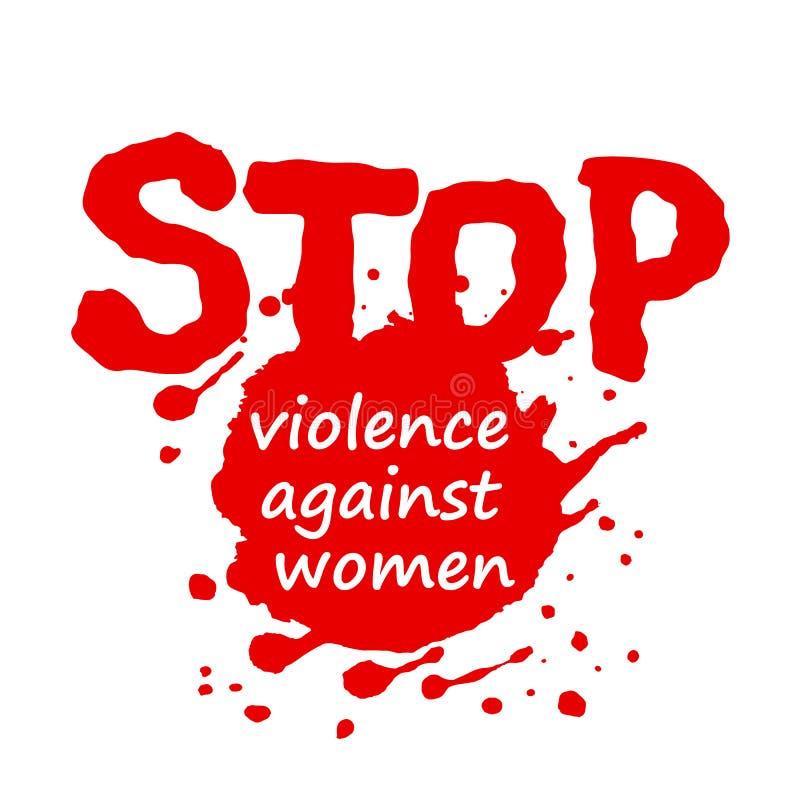 Diseño del cartel o de la bandera para el día internacional para la eliminación de la violencia contra mujeres Ilustración del ve ilustración del vector