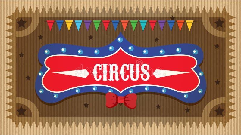 Diseño del cartel para el circo con las banderas coloridas stock de ilustración