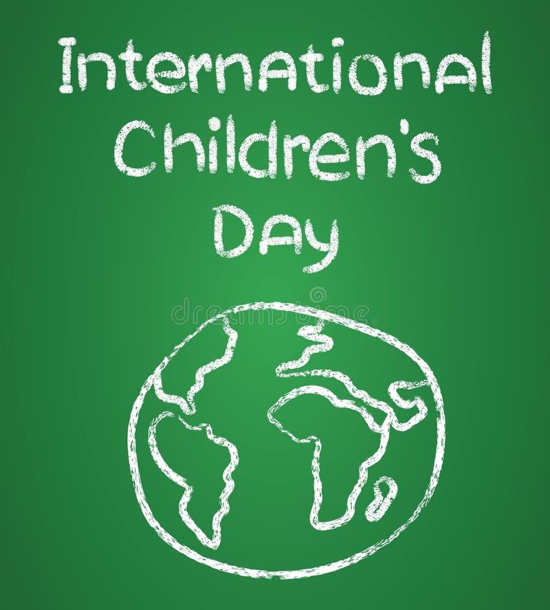 Diseño del cartel para el ejemplo internacional del día de los niños stock de ilustración