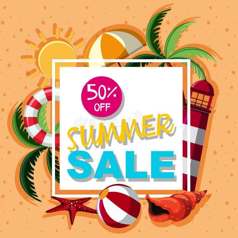 Diseño del cartel para la venta del verano libre illustration
