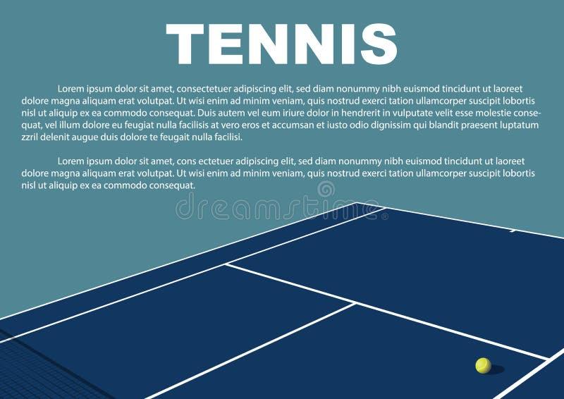 Diseño del cartel del torneo de tenis Plantilla del vector del cartel imagenes de archivo