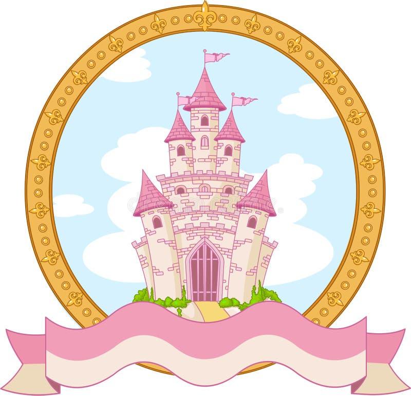 Diseño del castillo de la princesa ilustración del vector