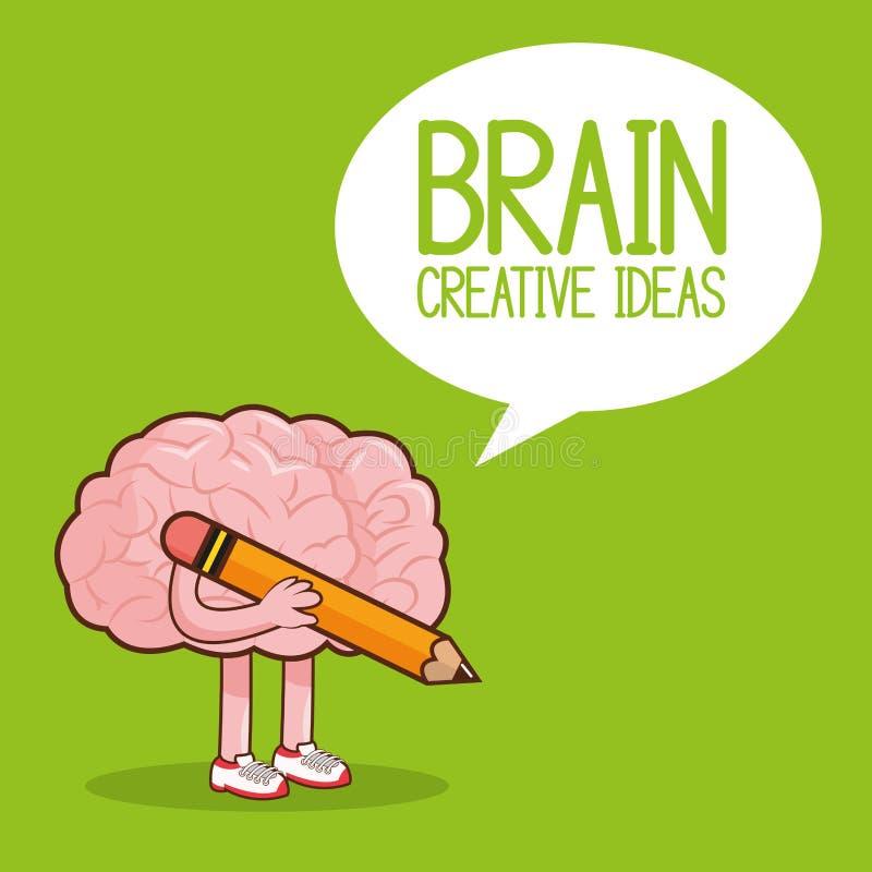 Diseño Del Cerebro Icono Del órgano Ejemplo Plano, Gráfico Stock de ...