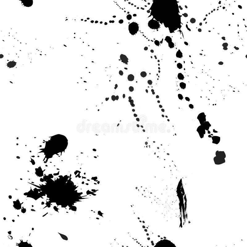 Diseño del chapoteo MODELO INCONSÚTIL ABSTRACTO PINTADO DEL VECTOR TEXTURA DEL CEPILLO DEL INCONFORMISTA ilustración del vector