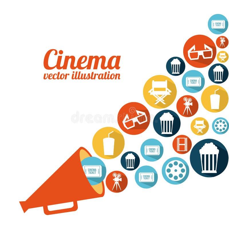 Diseño del cine ilustración del vector