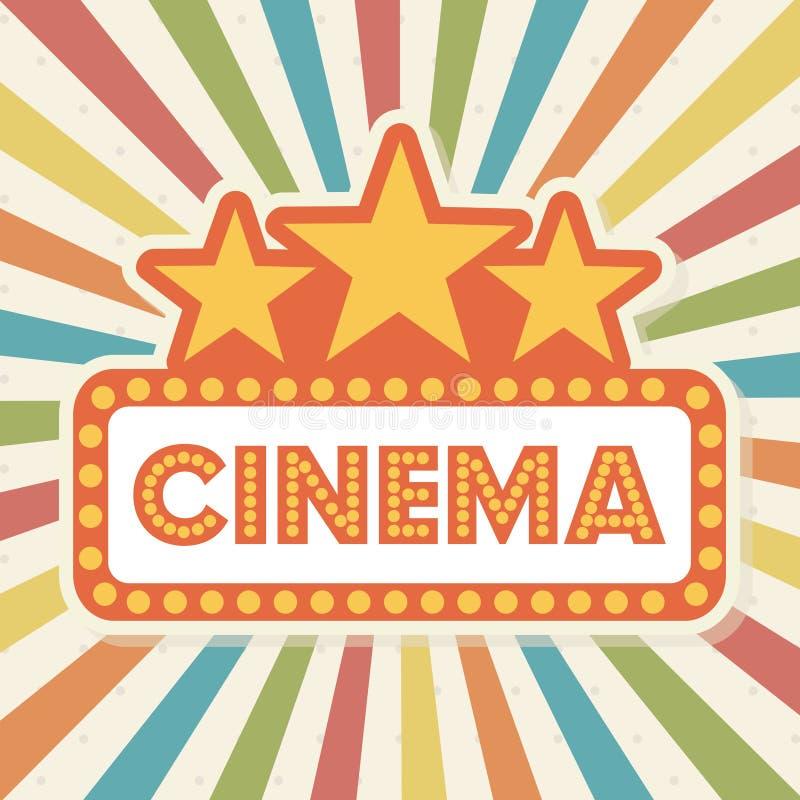 Diseño del cine stock de ilustración