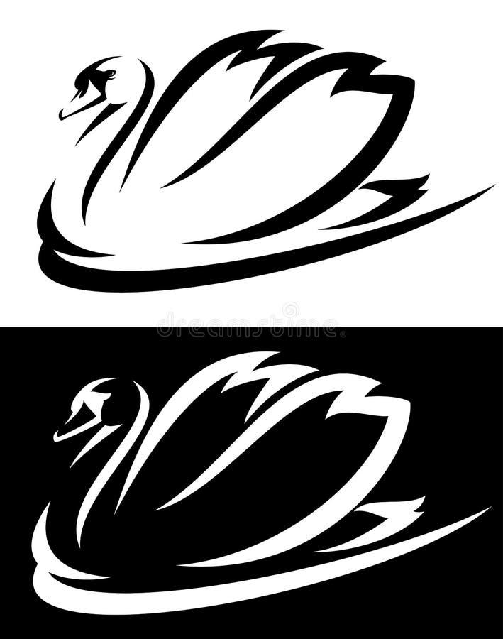 Diseño del cisne stock de ilustración