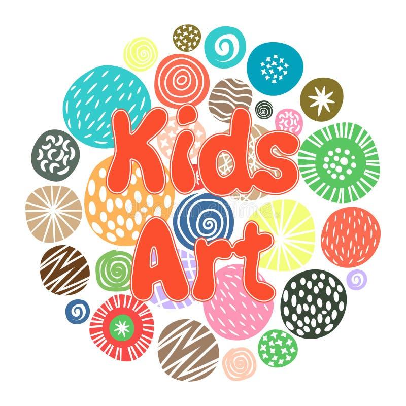 Diseño del club de la afición del arte de los niños libre illustration