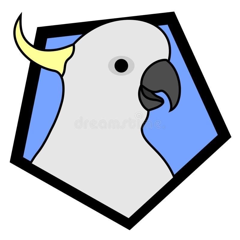 Diseño del Cockatoo ilustración del vector