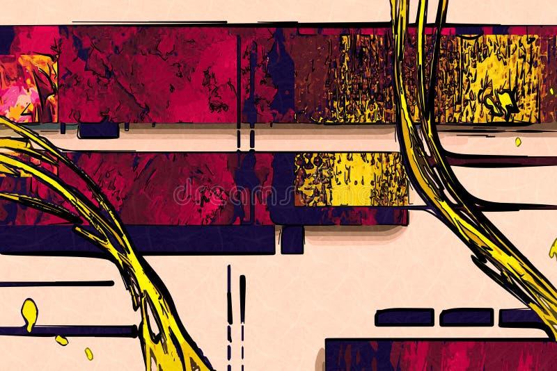 Diseño del color de la abstracción libre illustration