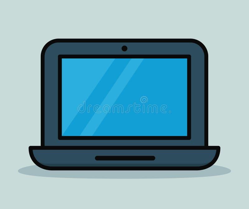 Diseño del color del icono del ordenador portátil del vector ilustración del vector