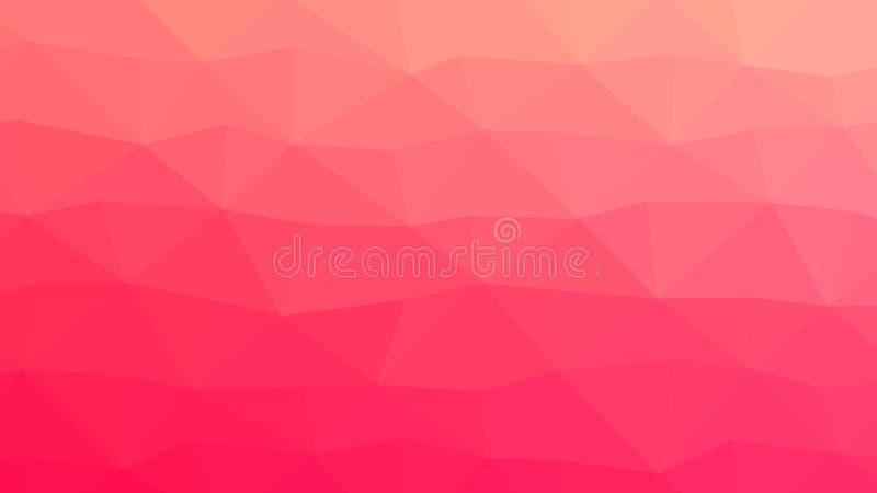 Diseño del contexto de Coral Pink Trendy Low Poly libre illustration