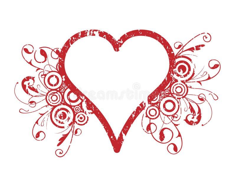 Diseño del corazón stock de ilustración