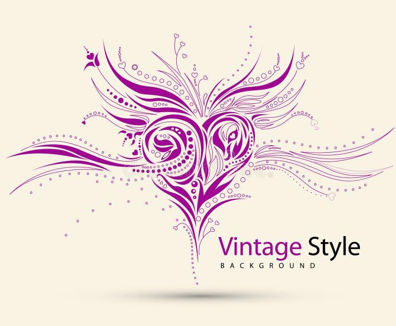 Diseño Del Corazón De Grunge Fotografía de archivo libre de regalías