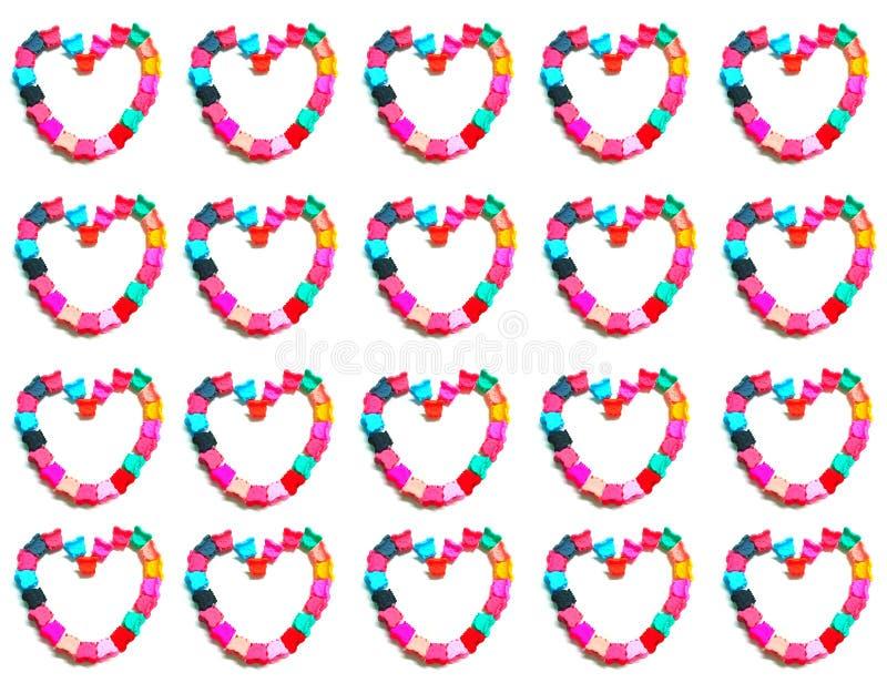 Diseño del corazón en el fondo blanco imagen de archivo libre de regalías