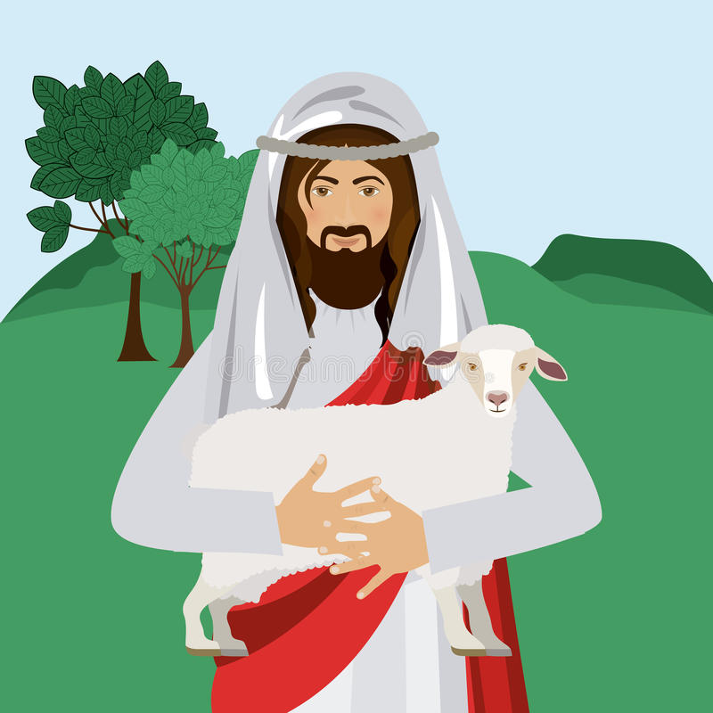 Diseño del cristianismo ilustración del vector