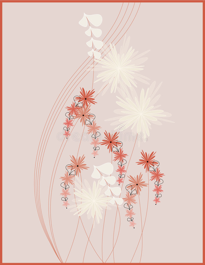 Download Diseño del cuadro floral stock de ilustración. Ilustración de modelo - 7283345